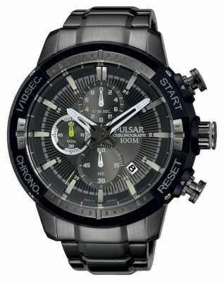 Pulsar Mens Grey Patterned Dial PM3049X1