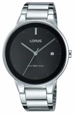 Lorus Unisex Stainless Steel Strap Large Black Dial RS927CX9