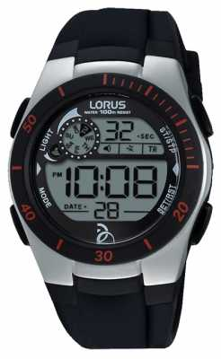 Lorus Novak Foundation Digital Black Silicone Strap R2375KX9