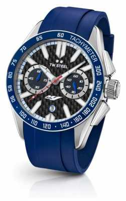 TW Steel Mens Yamaha Blue Silicone Strap GS4