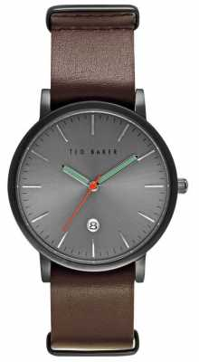 Ted Baker Mens Grey Dial Leather Strap TE10026444