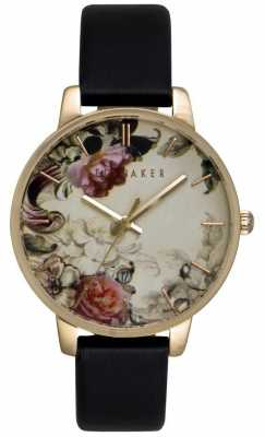 Ted Baker Ladies 40mm Gold Case with Floral Face TE10026426