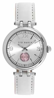 Ted Baker Ladies White Leather Strap Watch TE10023474