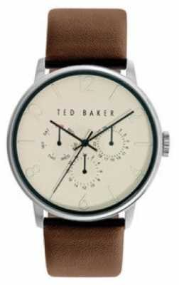 Ted Baker 40mm Ss Silv Red Dial TE10024788