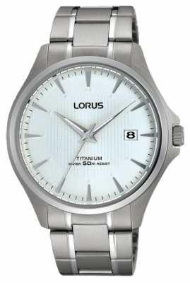 Lorus Men's Date Titanium Bracelet Strap Watch RS933CX9