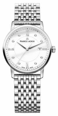 Maurice Lacroix Eliros Stainless Steel Anti Reflect With Diamonds EL1094-SS002-150-1
