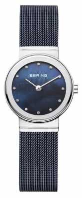 Bering Womans Navy Strap Navy Dial 10126-307