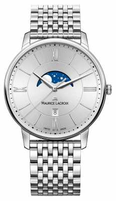 Maurice Lacroix Mens Silver Dial Silver Metal Strap EL1108-SS002-110-1