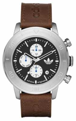 adidas Originals Mens Manchester Brown Leather Chronograph ADH3097