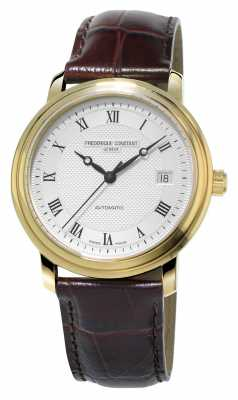 Frederique Constant Classics Mens Automatic Gold Plated Leather Strap FC-303MC3P5