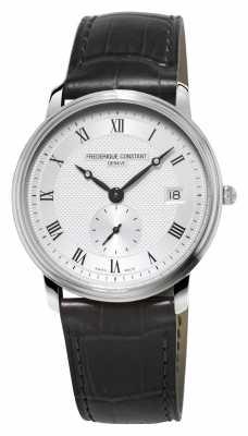 Frederique Constant Slimline Mens Sapphire Glass Black Leather Strap FC-245M4S6