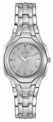 Citizen Womens Stainless Steel Eco-Drive Mineral Glass Dial EW1250-54A