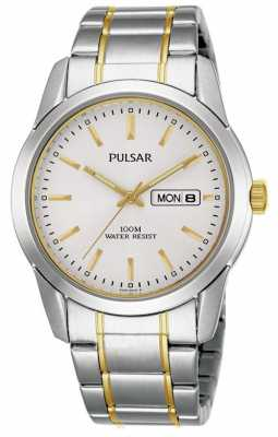Pulsar Mens Quartz Dual Tone Watch PJ6023X1