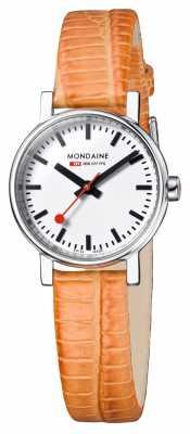 Mondaine Ladies Evo Petite Orange Lizard A658.30301.11SBG