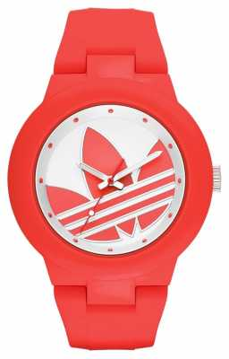 adidas Originals Ladies Red And White Silicone ADH3115