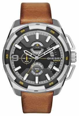 Diesel Light Brown Leather Chronograph Watch DZ4393