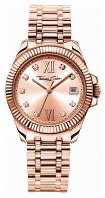 Thomas Sabo Womans Rose Gold Plated Strap WA0220-265-208-33