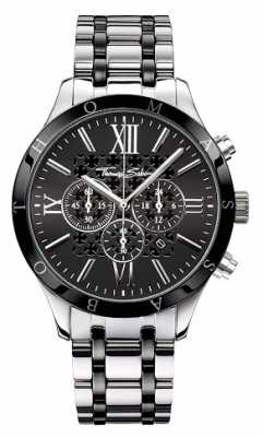 Thomas Sabo Mens Black Dial Stainless Steel Strap WA0139-222-203-43