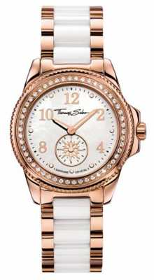 Thomas Sabo Womans Stainless Steel White Ceramic Strap WA0162-262-202-33