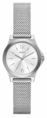 DKNY Ladies Parsons Silver Mesh Bracelet Watch NY2488