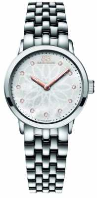 88 Rue du Rhone Womans Diamond Set Dial Stainless Steel Bracelet 87WA140008