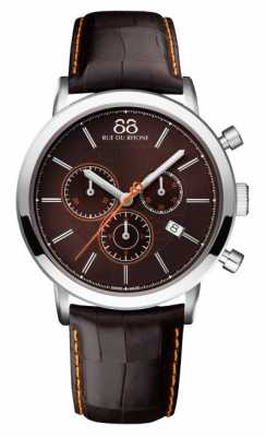 88 Rue du Rhone Mens Chronograph Brown Leather Strap Brown Dial 87WA140029