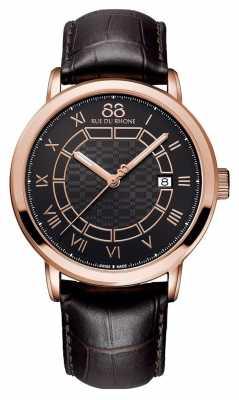 88 Rue du Rhone Mens Black Leather Strap With Black Dial 87WA144205
