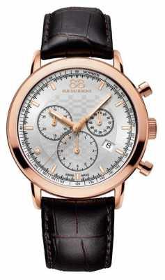 88 Rue du Rhone Mens Diamond Chronograph Brown Leather Strap 87WA154208