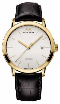 88 Rue du Rhone Mens Automatic Brown Leather Strap White Dial 87WA154213