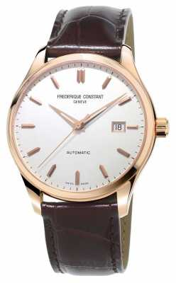 Frederique Constant Mens Classics Index Automatic Brown Leather Strap FC-303V5B4