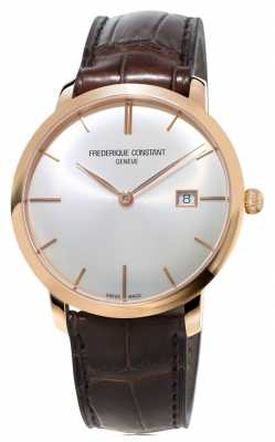 Frederique Constant Mens Slimline Automatic Brown Leather Strap FC-306V4S4