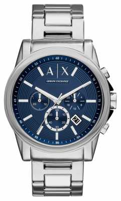 Armani Exchange Mens Chronograph Stainless Steel Blue Dial AX2509
