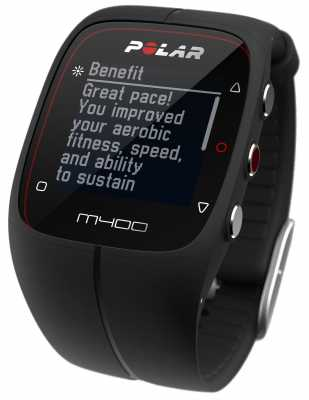 Polar Unisex M400 Bluetooth GPS (Black) Activity Tracker 90051092