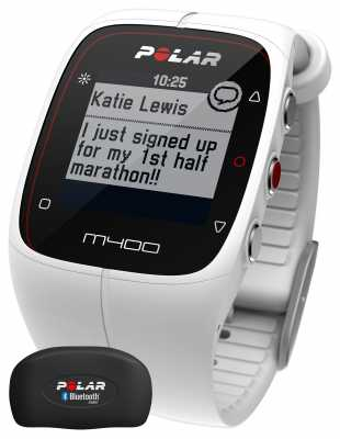 Polar Unisex M400 Bluetooth GPS (White with HR) Activity Tracker 90051347