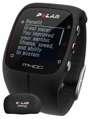 Polar Unisex M400 Bluetooth GPS (Black with HR) Activity Tracker 90051341