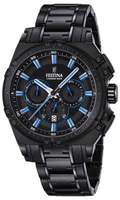 Festina 2016 Chronobike Mens Chronograph Watch Blue And Black F16969/2