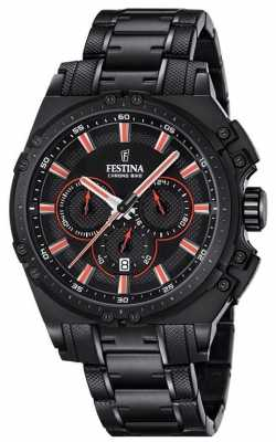 Festina 2016  Mens Chronograph Watch Black And Red F16969/4