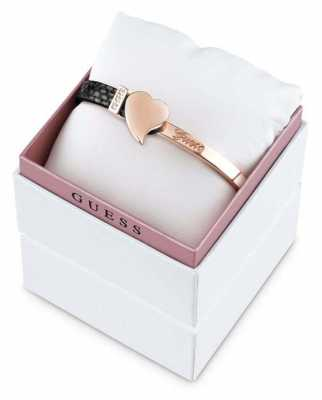 Guess Womens Exotic Attitude Rose Gold PVD Plated Bangle UBS61027