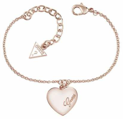 Guess Womens Heartbeat Rose Gold PVD Plated Bracelet UBB61047-L