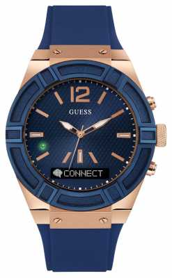 Guess CONNECT Unisex Blue Rubber Strap Smart Watch C0001G1