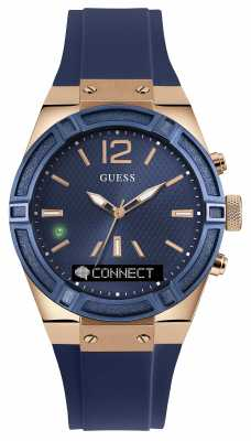 Guess CONNECT Unisex Blue Rubber Strap Smart Watch C0002M1