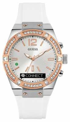 Guess CONNECT Unisex White Rubber Strap Smart Watch C0002M2