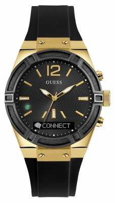 Guess CONNECT Unisex Black Rubber Strap Smart Watch C0002M3