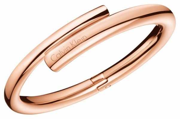 Calvin Klein Womens Scent Rose Gold PVD Bangle KJ5GPD10010S