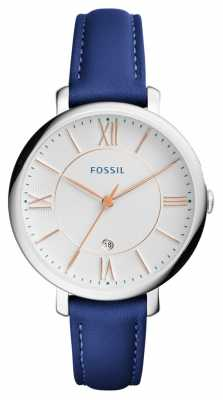 Fossil Womens Jacqueline Blue Leather Strap ES3986