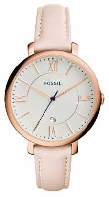 Fossil Womens Jacqueline Blush Leather Strap ES3988