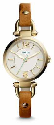 Fossil Womens Georgia Tan Leather Strap ES4000