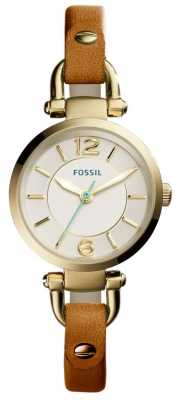 Fossil Womens Georgia Tan Leather Strap ES4000