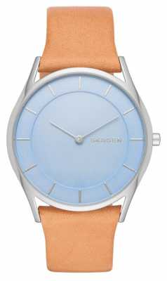 Skagen Womens Holst Tan Leather Strap Blue Dial SKW2451