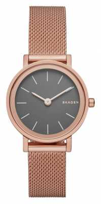 Skagen Womens Hald Rose Gold PVD Plated Mesh Strap SKW2470